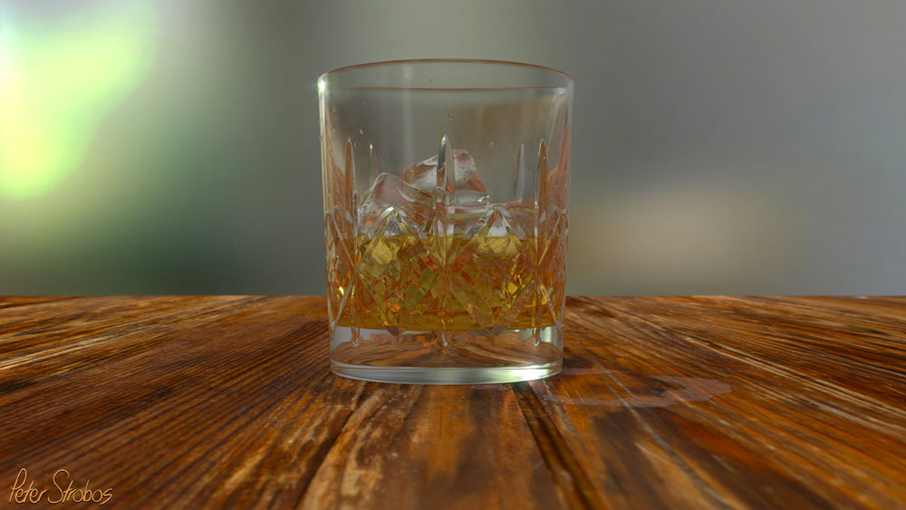 'Crystal whisky glass' HD digital render