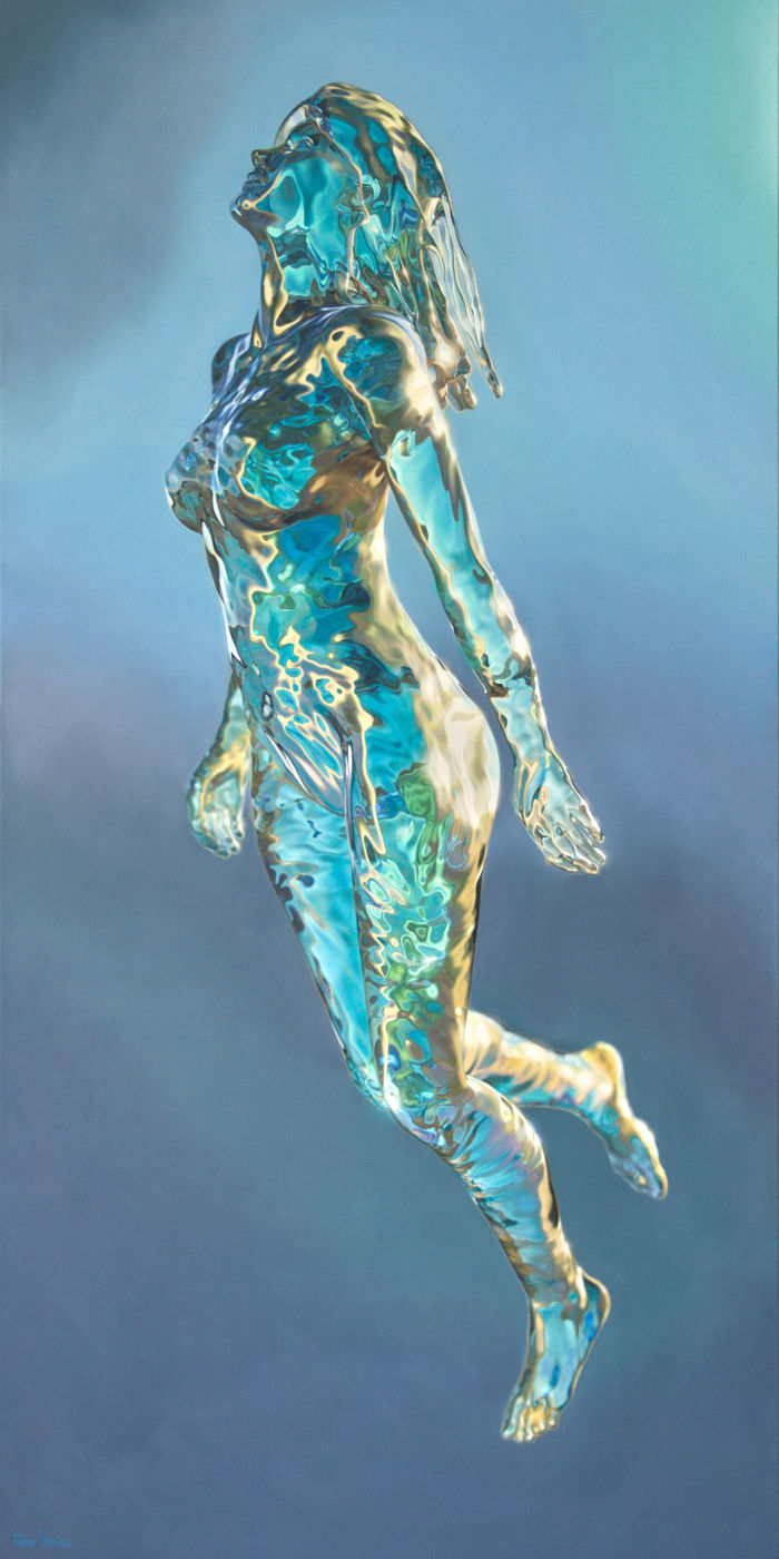 Oil on linen painting, simply titled 7 by Peter Strobos.