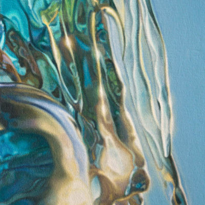 Hair detail from oil painting, simply titled 7 by Peter Strobos.