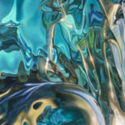 Shoulder area detail from oil painting, simply titled 7 by Peter Strobos.